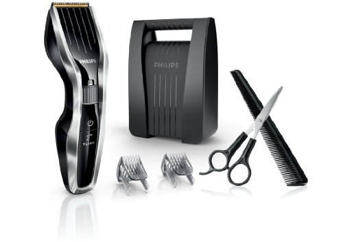Philips Series 7000 Haarschneider (DualCut-Technologie) HC7450/80, Chrome/Schwarz