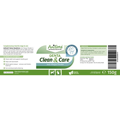 AniForte-Denta-Clean-Care-Powder-150g-100-Natural-Cat-Dog-Teeth-Cleaner-Easy-Use-Dental-Food