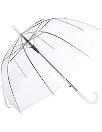 Paraguas Cúpula Transparente Mujer. Paraguas Vogue Burbuja Infantil, Paraguas Original Largo, Niño y Niña 80cm