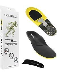 COLOMAX - SPORT - Einlegesohlen ideal für Sport und Alltag - Optimale Dämpfung - Maximaler Halt - Für Damen & Herren