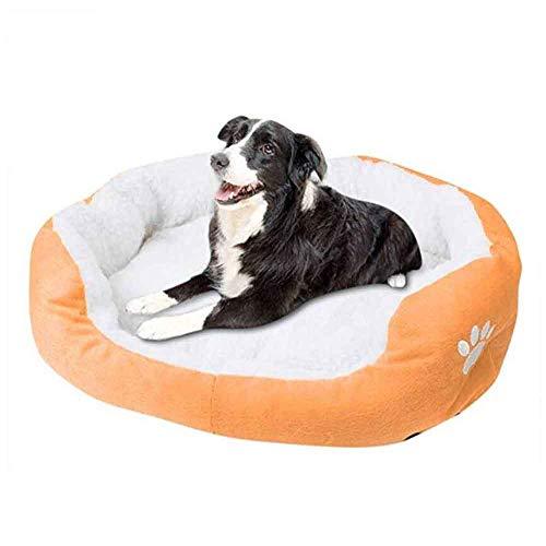 MTHDD Haustierbett für Hunde und Katzen Weiches Plüsch Warm rutschfeste Unterseite Kissen für Kleintiere,M6,50 * 40CM