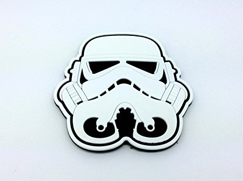Stormtrooper Casco Bianco Star Wars Patch PVC Softair Velcro Toppa