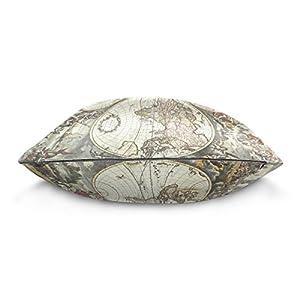 ALAZA manta funda de almohada Funda de cojín (cuadrado funda de almohada, Vintage mapa del mundo arte sofá cama cubierta de la funda de almohada 2lados