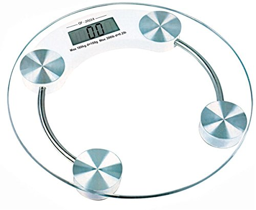 One Stop Shop Round Thick Tempered Glass Electronic Digital Body Weight Weighing Scale  available at amazon for Rs.545