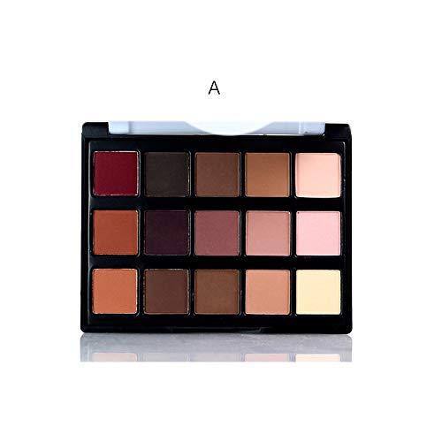 JWR 15 Farbe Lidschatten Glitter Matte natürliches Farbglitter Pigment kosmetisches Augen Make-up,A