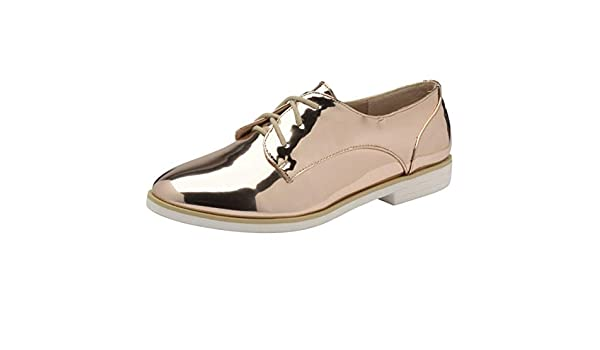 WOMENS ROSE GOLD SLIP-ON FRINGE LOAFERS SMART CASUAL PATENT COMFY SHOES UK 3-8