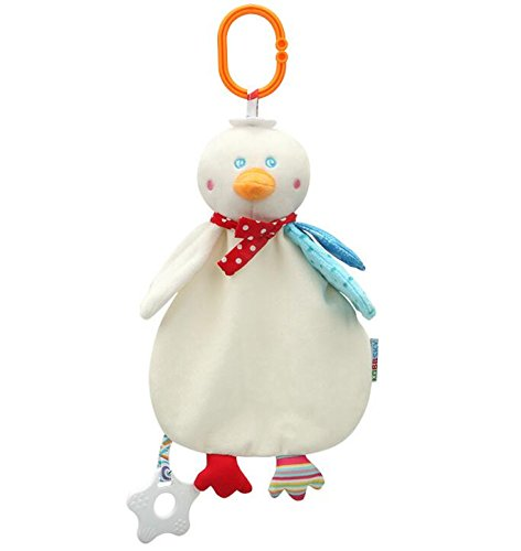 Baby Appease Tröster Spielzeug Snuggle Toy Tröster Decke Neugeborene weiche Ente Marionette Toy_White -