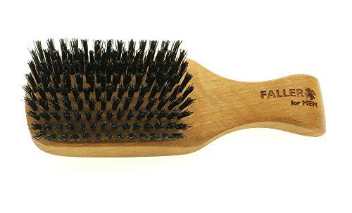for MEN - Herren Haarbürste, aus geöltem Walnuss Holz, hochwertige Kopfkardätsche mit Stiel und Wildschweinborsten, Größe 175 x 54 mm, hergestellt in Deutschland