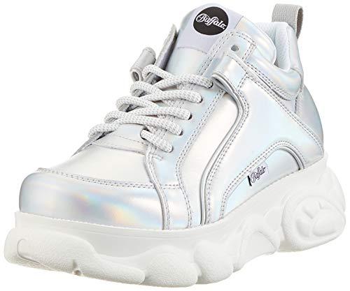 Buffalo Damen Corin Hohe Sneaker, Grau (Silver 000), 37 EU