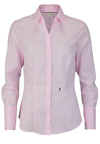Seidensticker Damen Hemdbluse Slim Fit Langarm Bügelfrei mit Schwarzer Rose  Einfarbig Uni 00fb229d5e