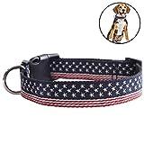 Legendog Haustier Halsband Einstellbar Nylon Amerikanisch Flagge Drucken Hund Halsband Haustier Kostüm Halsband