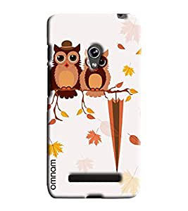 Omnam Two Owl On One Tree Printed Designer Back Cover Case For Asus Zenfone 5