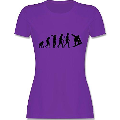 Evolution - Snowboard Evolution - tailliertes Premium T-Shirt mit Rundhalsausschnitt für Damen Lila