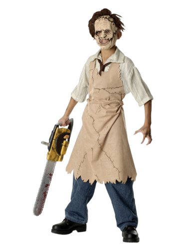 Leatherface Kinder Kostüm Set mit Maske Gr. 5 bis 7 J.