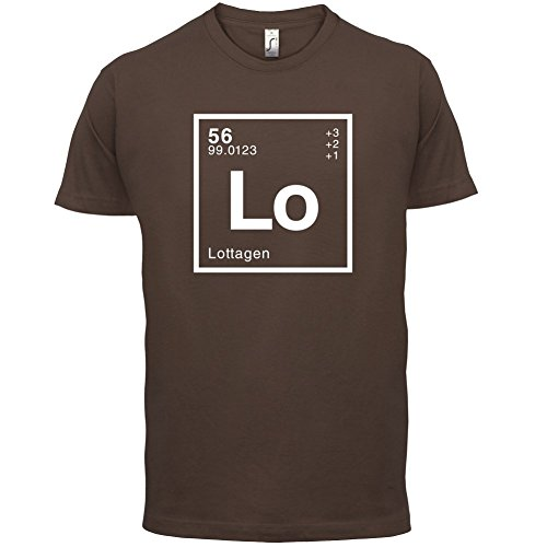 Lotta Periodensystem - Herren T-Shirt - 13 Farben Schokobraun