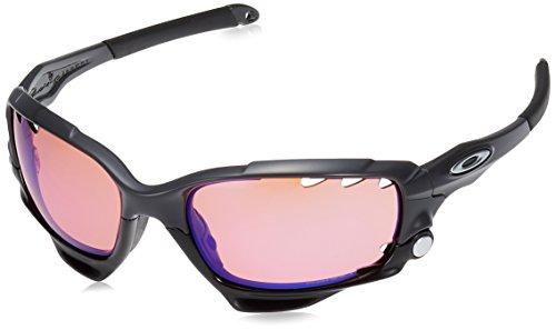 Oakley Herren Racing Jacket 917138 62 Sonnenbrille, Schwarz (Carbon/Prizmtrail),