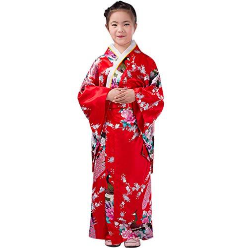 sunnymi  Mädchen Kleid, Kleinkind Kinder Baby Outfits Kleidung Kimono Robe Japanisches Traditionelles Kostüm (Boxen Kostüm Robe)