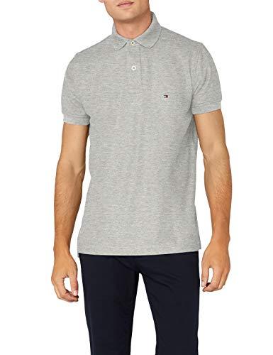Tommy Hilfiger Herren CORE Hilfiger Regular Polo Poloshirt, Grau (Cloud Htr 501), X-Large - Xl Grau Core