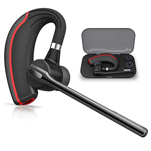 XINFOC Bluetooth Headset, V5.1 Wireless Kopfhörer Bluetooth Ohrhörer Freisprechen Headset für iPhone Samsung Huawei PC Handy, LKW Fahrer Funk Kopfhörer mit Mikrofon - Boom Wireless Headset