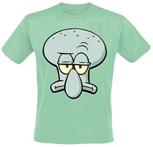 Spongebob Schwammkopf Thaddäus Tentakel T-Shirt Mint L - Spongebob Schwammkopf T-shirt T-shirt