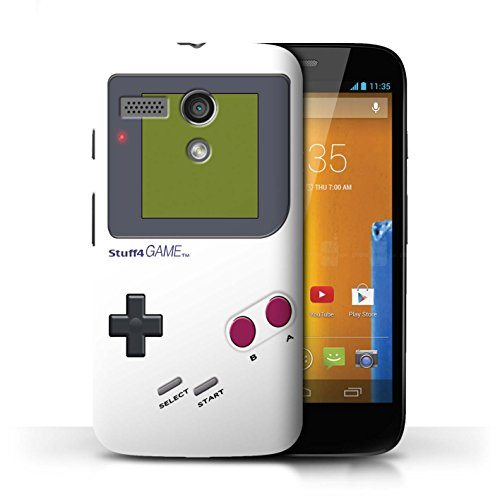 Stuff4® Hülle/Case für Motorola Moto G (2013) / Weiß Muster/Videogamer/Gameboy Kollektion - Motorola G Case Moto Gameboy