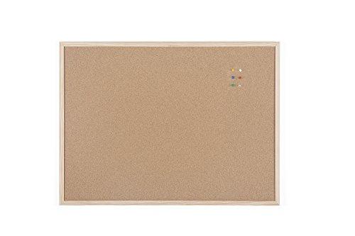 Bi-Office Korktafel / Pinnwand mit Holzrahmen- 5 Größen wählbar - 80 x 60 cm - Italienische Holzrahmen