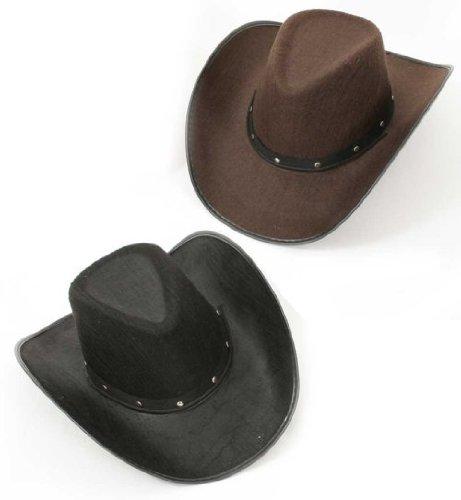 Kinder Tanz Western Kostüm - Texax Cowboyhut Cowboy Hut schwarz oder braun