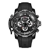 Escapada de Lujo Reloj de la Marca de Moda Casual Correa de Silicona Reloj Deportivo Luminoso Impermeable del cronógrafo de Cuarzo Reloj para los Hombres