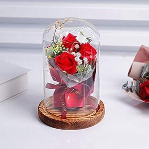 Rosa eterna en cúpula de