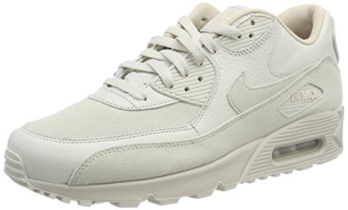 Nike Herren Air Max 90 Premium Laufschuhe, Mehrfarbig (Light Bone/String 013), 40.5 EU (Tennis-schuhe Strings)