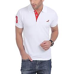 American Crew Polo No.3 Applique White T-Shirt - L (AC021R-L)