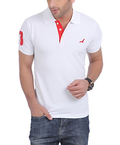AMERICAN CREW Polo No.3 Applique White T-Shirt - L (AC021R-L)
