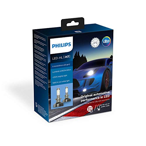 Philips automotive lighting 11972XUWX2 X-tremeUltinon gen2 LED Lampadina fari Auto (H7), 5.800K, Set di 2