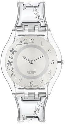 Swatch SKIN - Reloj de mujer de cuarzo, correa de acero inoxidable color plata