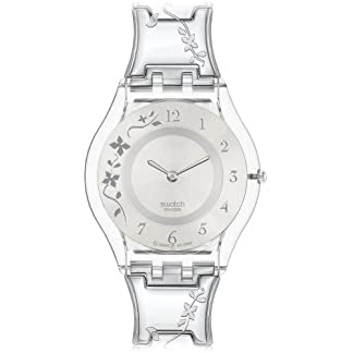 Swatch Skin – Reloj de Mujer de Cuarzo, Correa de Acero Inoxidable Color Plata