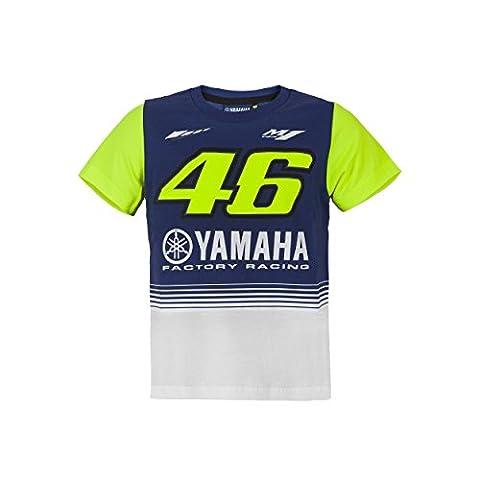 Valentino Rossi VR46 Moto GP M1 Yamaha Racing Kinder T-shirt Offiziell 2017 (Valentino Rossi Shop)
