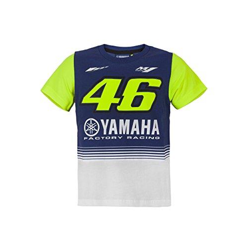 Valentino Rossi VR46 Moto GP M1 Yamaha Racing Kinder T-shirt Offiziell 2017 (Dual-grafik-t-shirt)