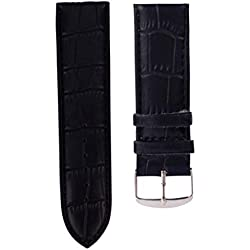 Fulltime(TM) High Quality Soft Sweatband Leather Strap Steel Buckle Wrist Watch Band 12 14 16 18 20 22 24 26mm