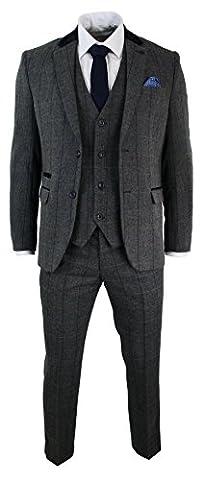 Costume Homme Slim Laine - Costume mariage hommes 3 pièces gris fusain
