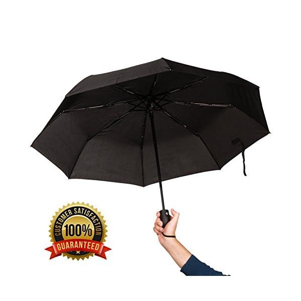 Premium Unisex Mini ombrello Nero-Nuovo-Grande Qualità!