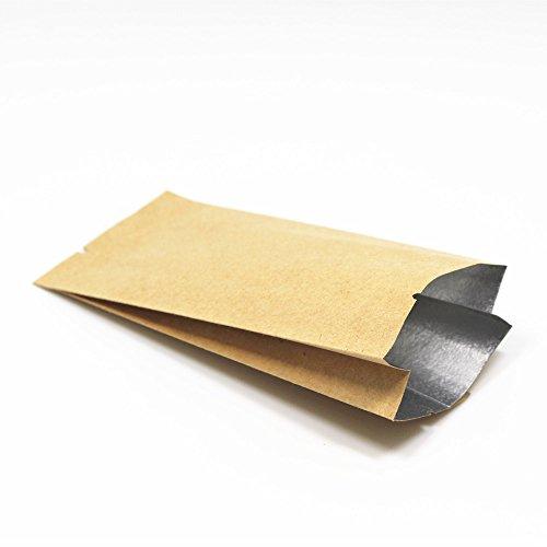 28x9.5x6cm (11.1'x3.7'x2.3') Kraft Papier Mylar Aluminium Folie Tasche Orgel Form Öffnen Sie Oberseite Vakuumverpackung Nicht Verschließen Beutel Verpacken Kaffee Nuss Heißgesiegelt Seite Falten Akkordeon Papier Alufolie Tüten (250)