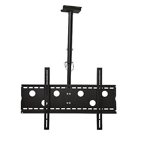 Monitor Deckenhalterung schwarz ausziehbar von 57cm bis 80cm schwenkbar, 20° neigbar 360° drehbar für LG 32