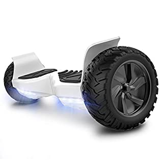 COLORWAY Hoverboard 8.5Inches 2 Wheels Self Balancing Electric Scooter Auto Self Balancing with Bluetooth Speaker,Mobile App and LED Light (White)
