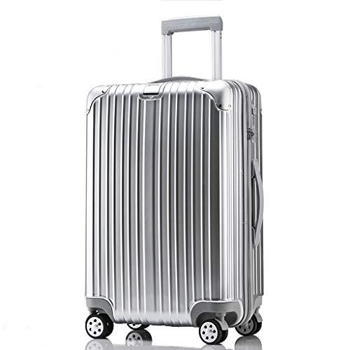 OTLLE Trolley, Universal Wheel, Einstiegskoffer für Männer und Frauen, Reisekoffer, fünf Größen (Farbe : Silber, größe : 29inches)