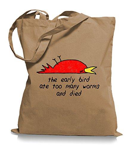Bird Caramell The Died WM101 Jutebeutel Tragetasche Stoffbeutel Ma2ca® Bag Early vqzEAdw