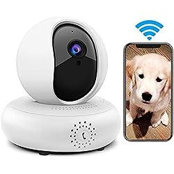 LEEFISH Cámara inalámbrica para Mascotas 1080P HD Monitor de Perro, cámara de vigilancia, Gato, detección de Movimiento, visión Nocturna, Audio de Dos vías para bebé/Perro/Gato