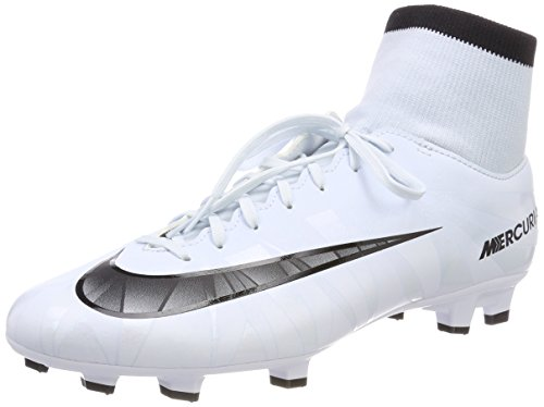 Nike Herren Mercurial Victory VI CR7 DF FG 903605 40 Fußballschuhe, Weiß (Teinte Bleue/Blanc/Teinte Bleue/Noir), 44.5 EU