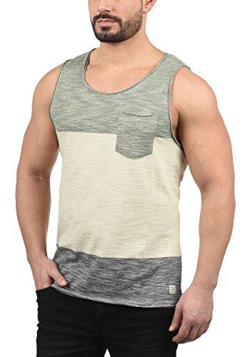 Blend Johans Herren Tank Top mit Rundhalsausschnitt aus 100% Baumwolle Regular Fit, Größe:M, Farbe:Dusty Olive Green (77203)