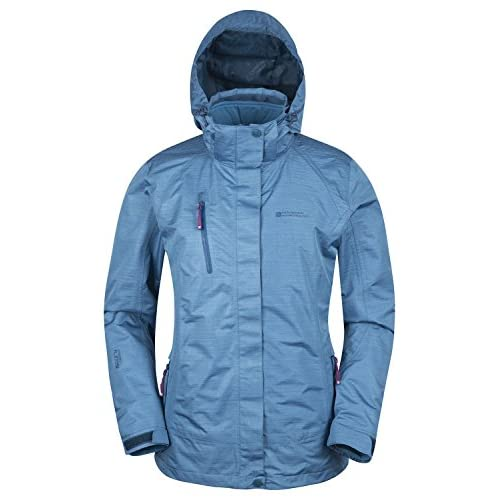 41zgdpIptLL. SS500  - Mountain Warehouse Bracken Melange 3 in 1 Womens Jacket - Waterproof Ladies Rain Jacket, Thermal Tested Ladies Coat, Breathable, Detachable Hood, Adjustable - for Autumn