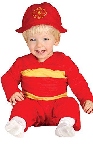 Baby Feuerwehrmann - Kostüm für Kinder Gr. 86 - 98, (Baby Kostüme Feuerwehrmann)